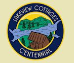 Lakeview Cottages centennial logo