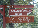 Lakeview Cottages sign